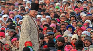 Imam Shah Karim al-Husayni Aga Khan IV visiting his Ismaili followers in Tajikistan, 2008