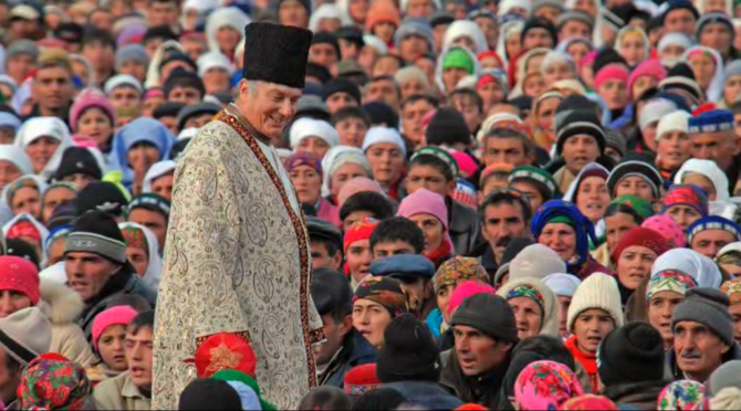 Imam Shah Karim al-Husayni Aga Khan IV visiting his Ismaili followers in Tajikistan, 2008