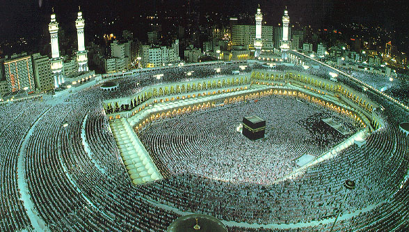 The Sacred Masjid in Makkah during the Hajj season.