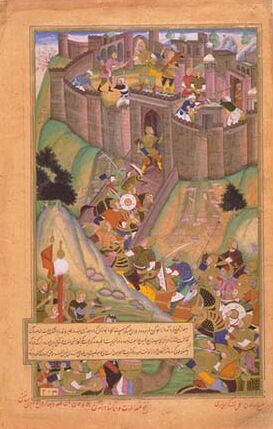 Hulegu Khan's siege of the NIzari fortress of Alamut